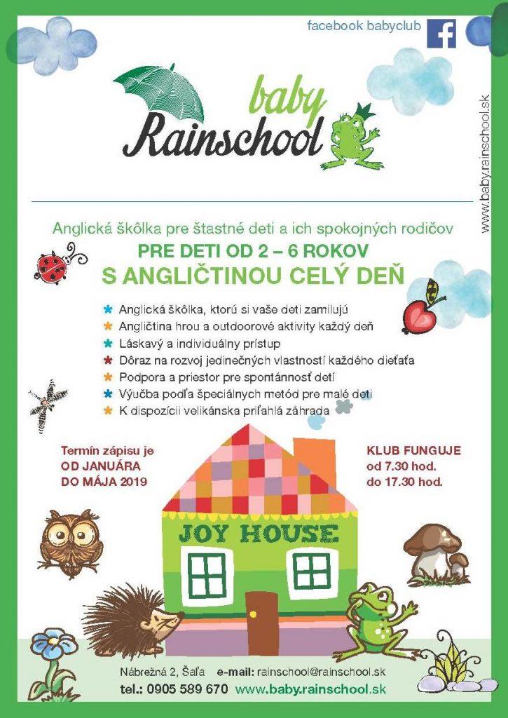 baby rain school anglická škola