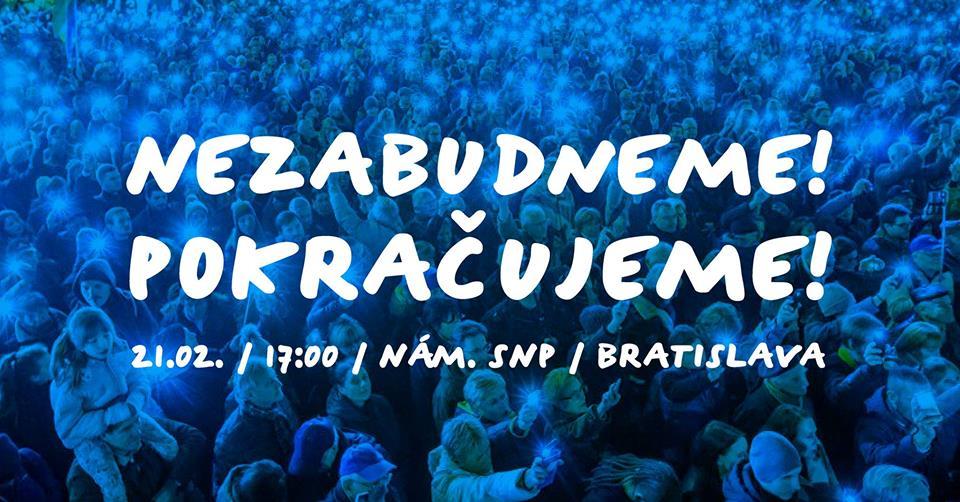 nezabudneme pokračujeme - za slušné slovensko