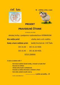 Projekt: Pravidelné čítanie @ CVČ Šaľa