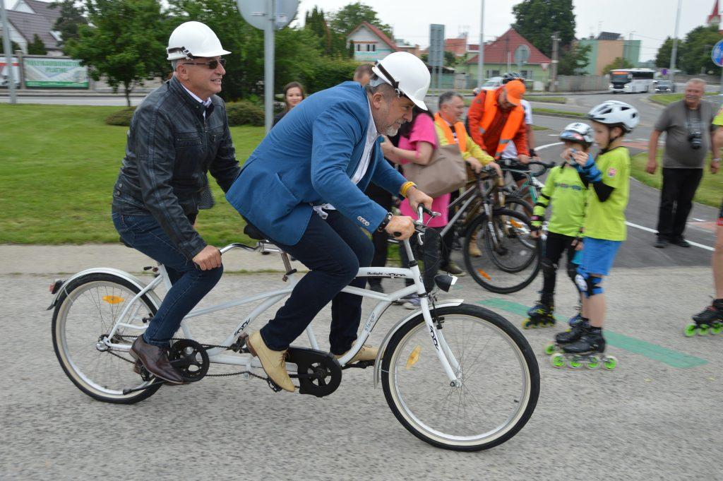 otvorenie cyklotrasy duslo Šaľa