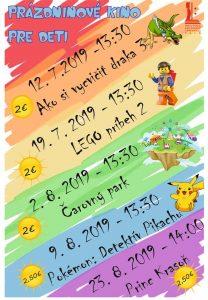 Prázdninové kino pre deti: Lego príbeh 2 @ Kino Šaľa