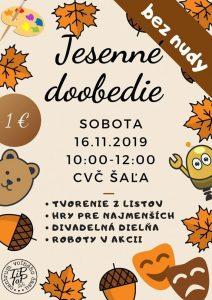 Jesenné doobedie @ CVČ Šaľa