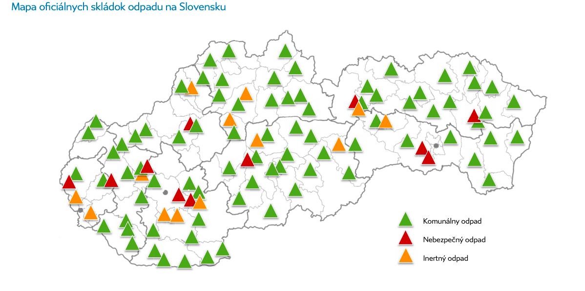 mapa oficiálnych skládok slovensko