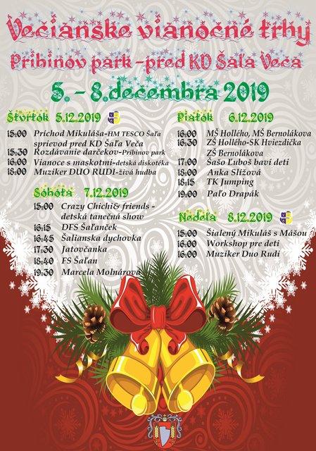 vianočné trhy veča program