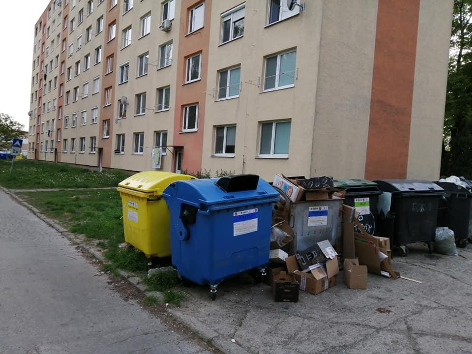 neporiadok pri smetiakoch