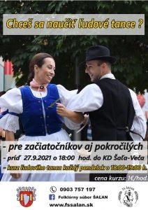 Kurz ľudového tanca @ Kultúrny dom Veča